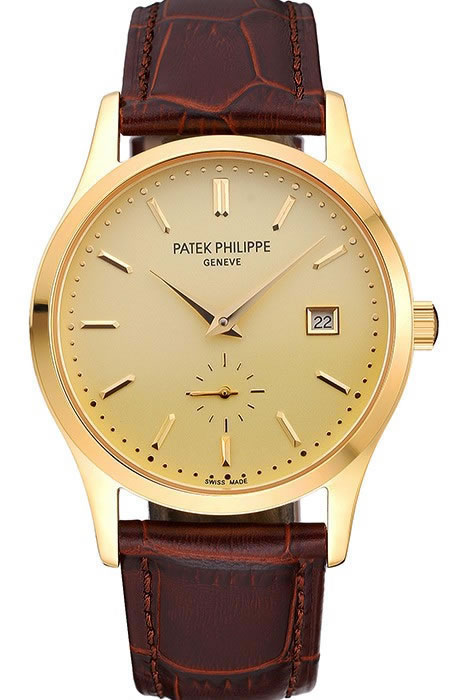 patek phillipe calatrava gold plated replica